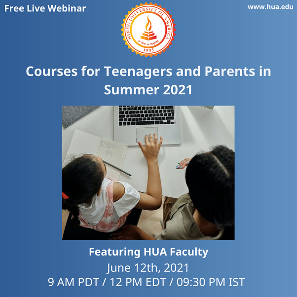 Courses for Teenagers and Parents in Summer 2021