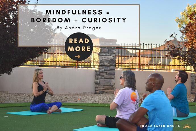 Mindfulness = Boredom + Curiosity