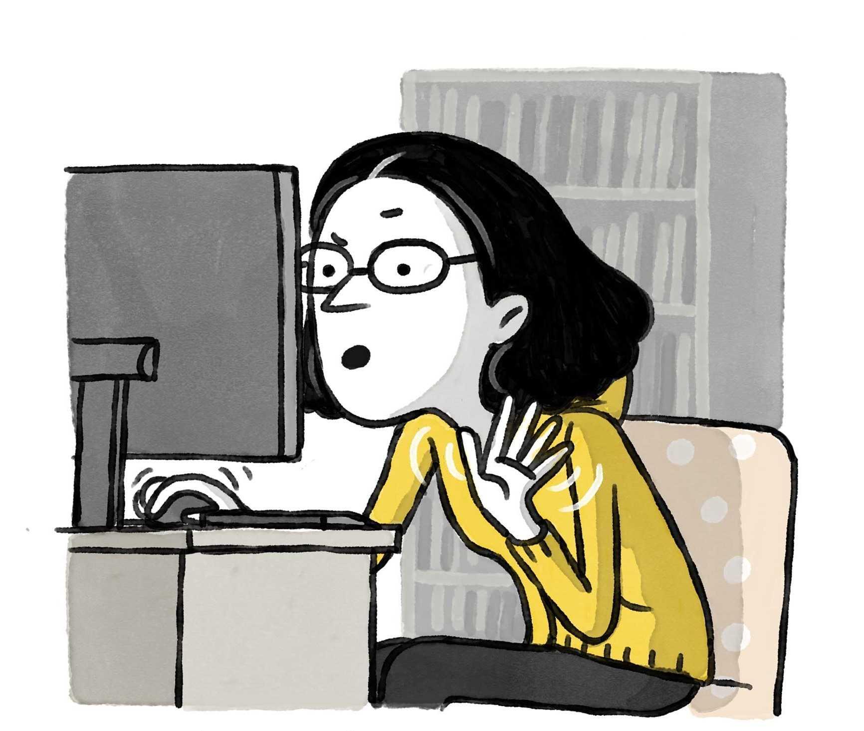 mujer en videollamada que presenta problemas de conexion