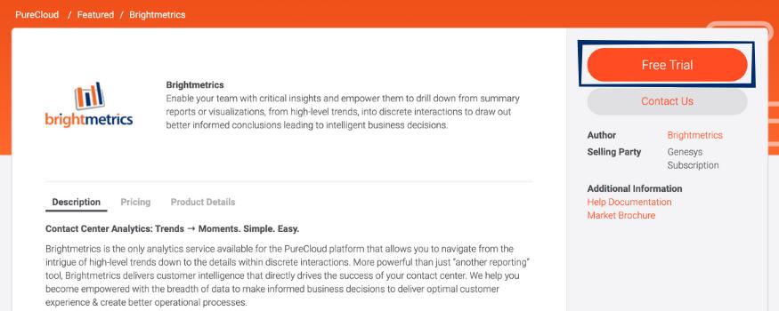 Genesys Cloud Reports Simplified: Brightmetrics™ Is a Premium App