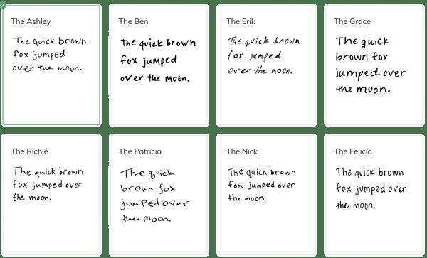 AI handwriting