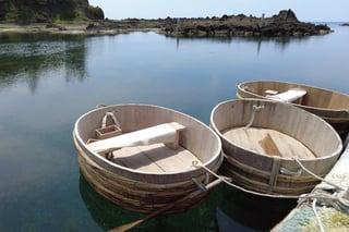 【南佐渡地区】小木海岸 気軽に観光体験できるたらい船