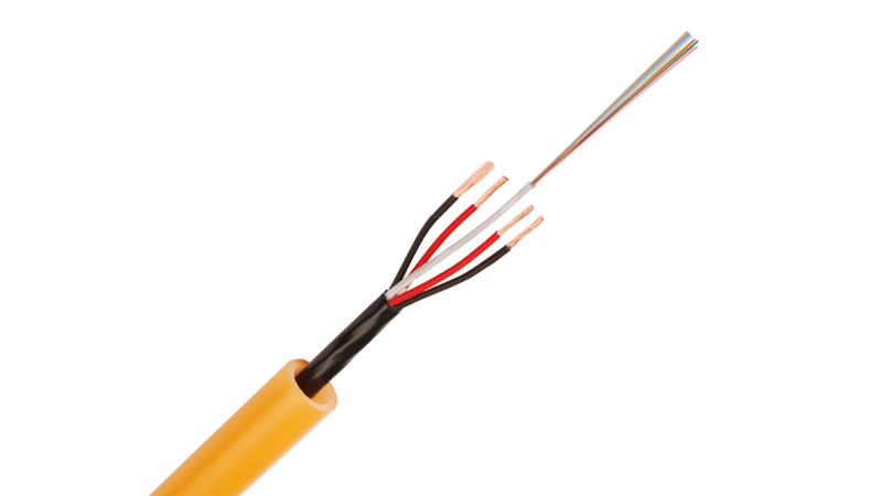InOne Power and fiber hybrid cable
