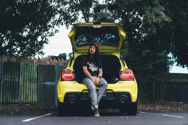 Geoff Ong and his Swift Sport