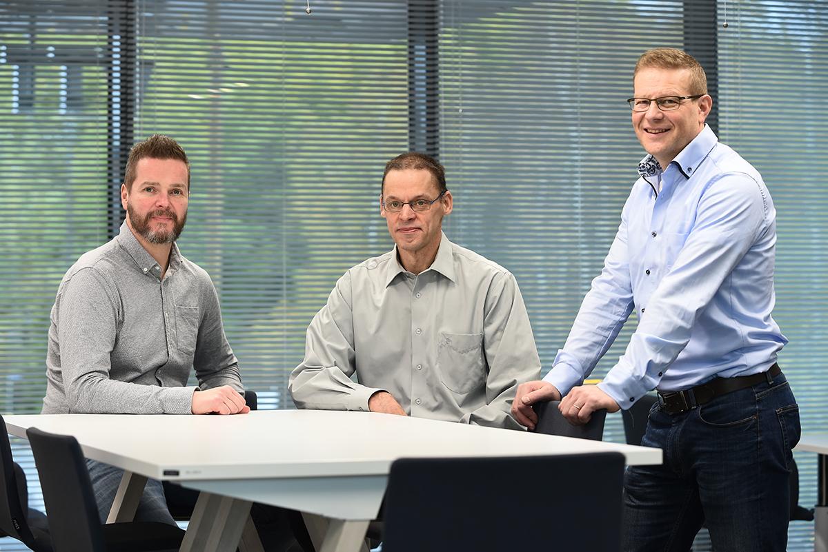 Team Obview eli Teemu Ruotsalainen (vas.), Tapio Mäkelä ja Asko Sneck
