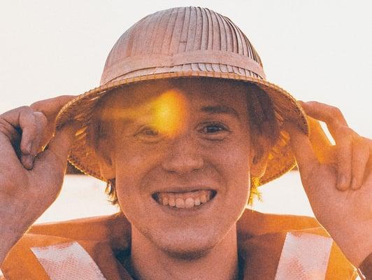 POP Pankkikeskuksen kesätyöntekijä Markus Havia itse ottamassaan kuvassa.