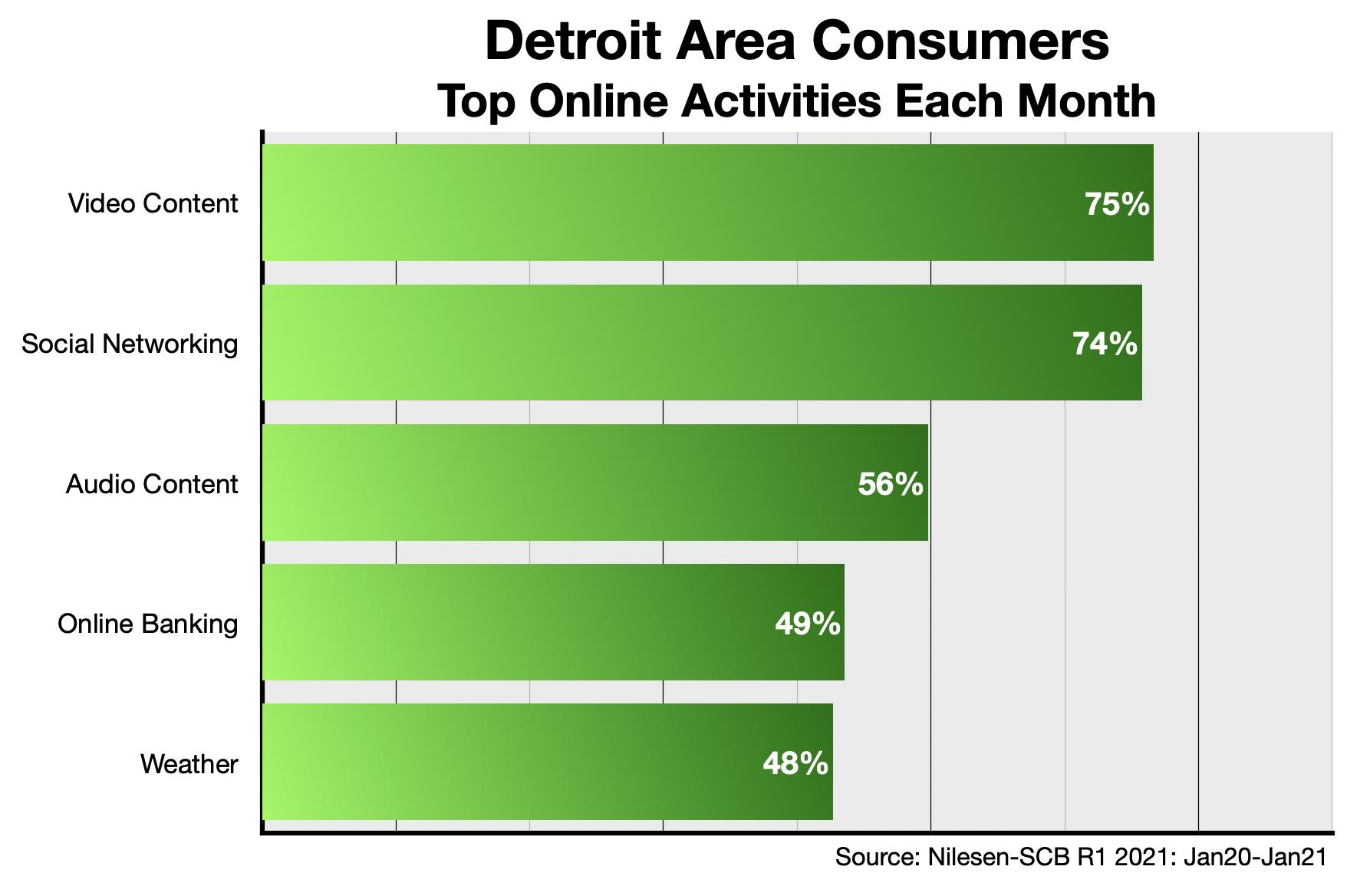 What Detroit Consumer Do Online