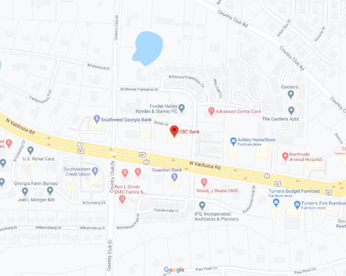 Map Image of our Valdosta location.