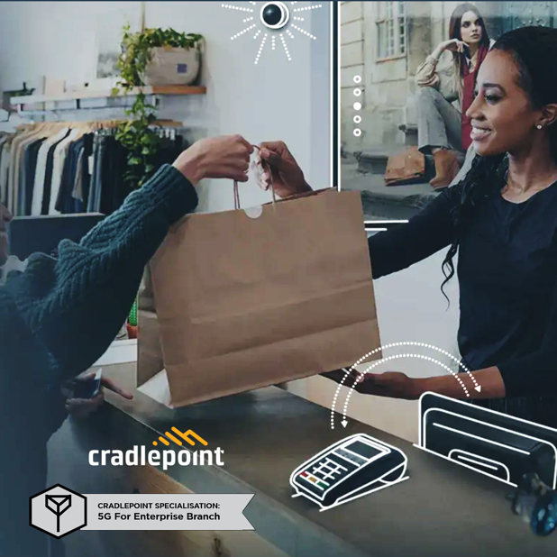What is the Cradlepoint '5G for Enterprise Branch' solution?