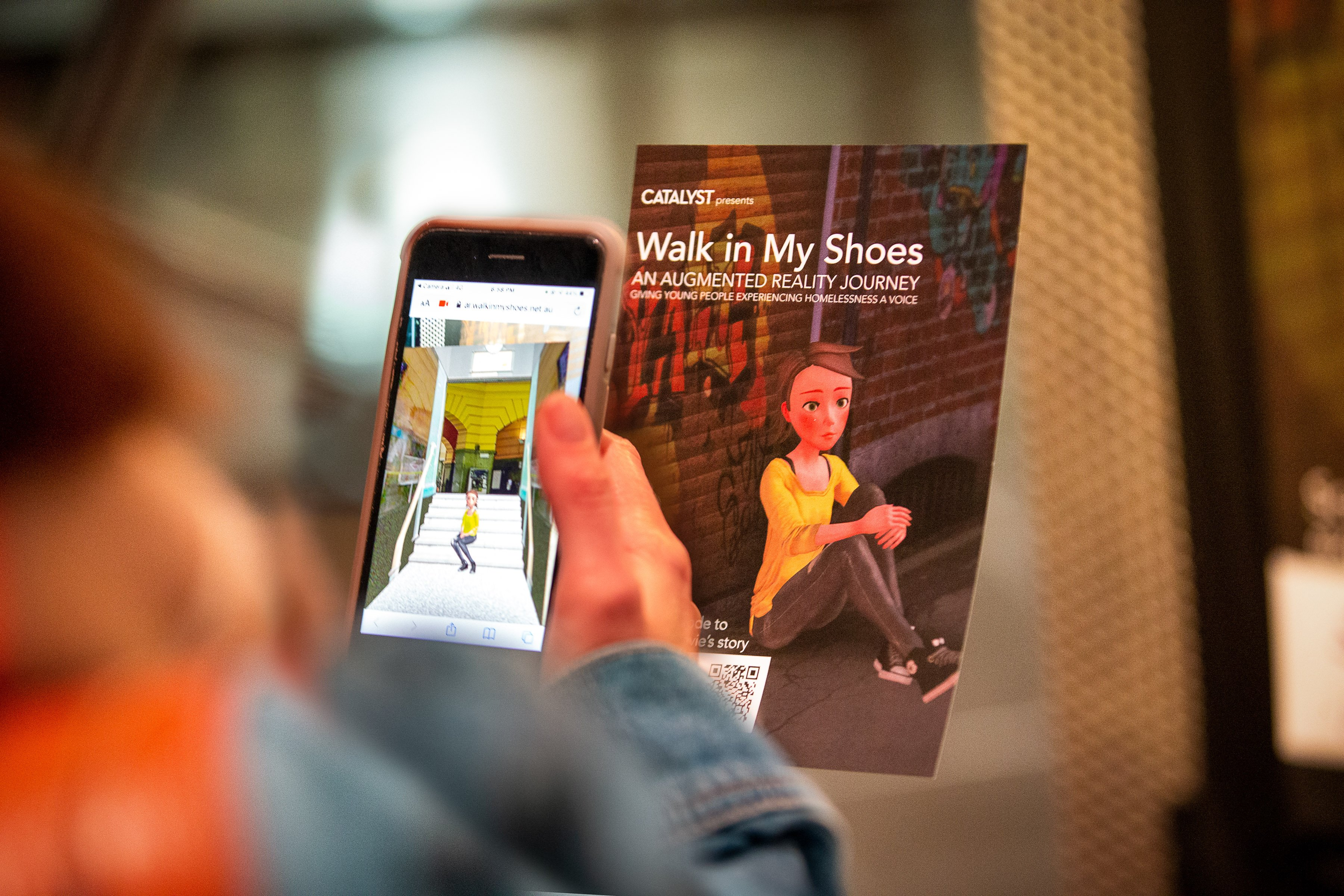 Steps Outreach Service Invites Australians to Walk in the Shoes of Homeless Youth in WebAR Exhibition