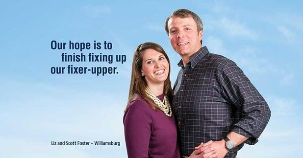 A Williamsburg love story: Liz and Scott Foster of Williamsburg