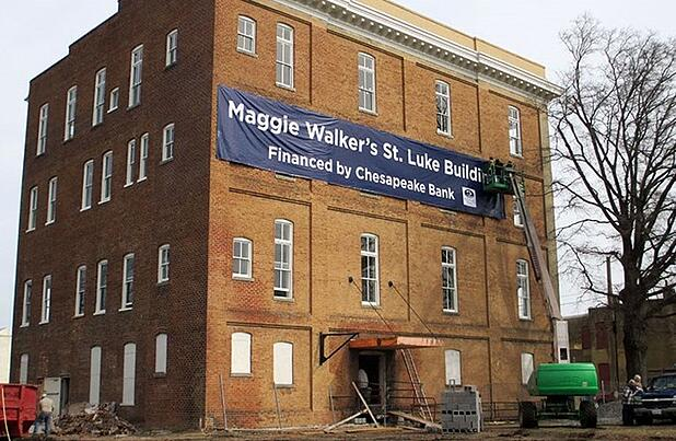 Maggie Walker building renovation financed by Chesapeake Bank
