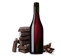 red wine dark chocolate