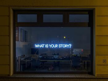 window asking your story