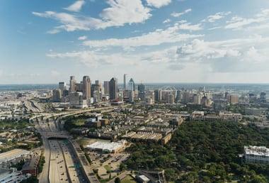City view of Dallas, Texas