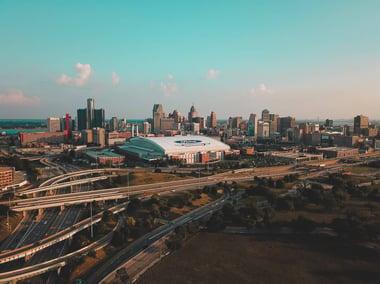 View of Detroit, Michigan