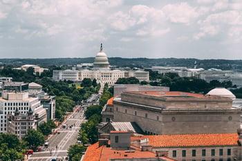 view of Washington, D.C. capitol building
