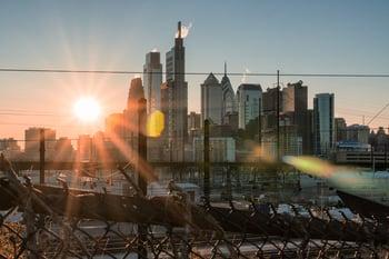 downtown view of Philadelphia