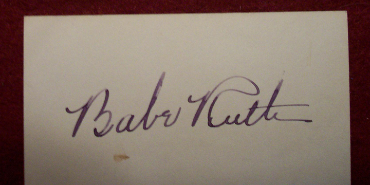 The Mystery of Family's TWO Babe Ruth Autographs