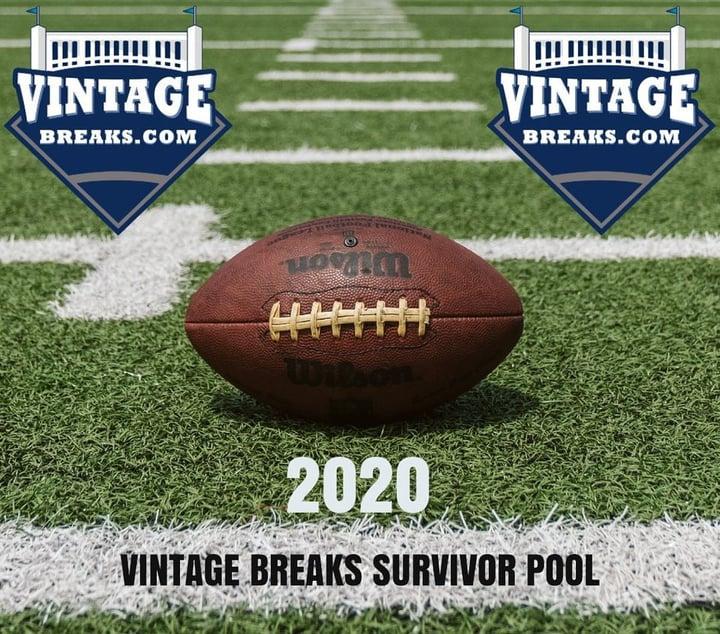 Win $250 Break Credit in Vintage Breaks' NFL FREE Survivor Pool