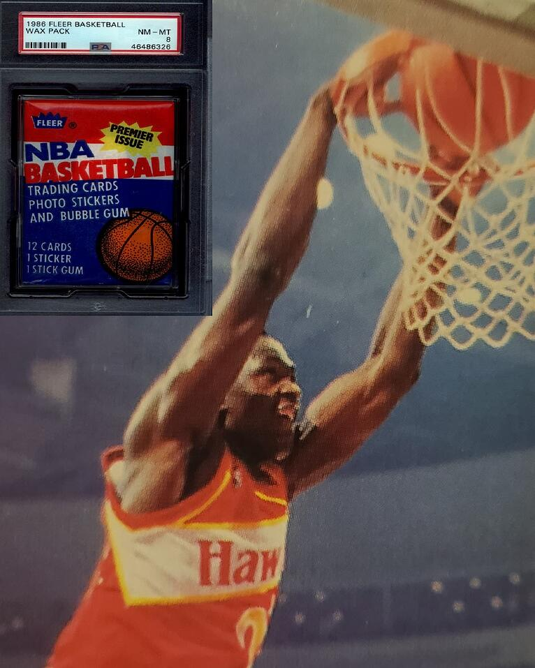 Dominique Wilkins Live Experience Breaking 1986 Fleer Wax Pack and Signed Memorabilia Prizes