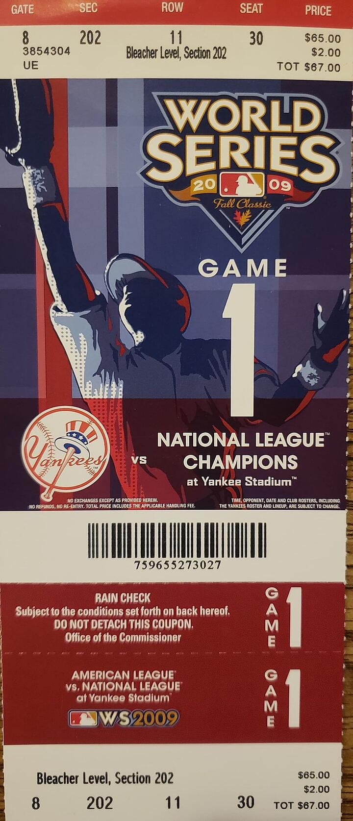 2020 World Series Collectible Tickets May be Rarest of All