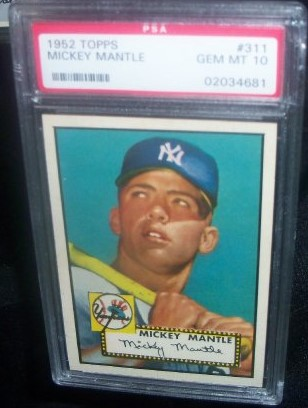 Mickey Mantle Rookie Breaks All-Time Price Record at 5.2 Million Dollars