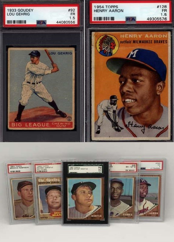Win a1933 Goudey Lou Gehrig,1954 Topps Hank Aaron Rookie, Over $6,000 in Break Credit and More in Our Iconic Heroes Event