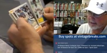 Opening Vintage Topps Packs and Hearing Stories with Former Phillies Closer Mitch Wild Thing Williams [VIDEO]