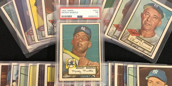 1952 Topps Mickey Mantle Rookie Highlights Grandpa's Shoebox Collection from Canada
