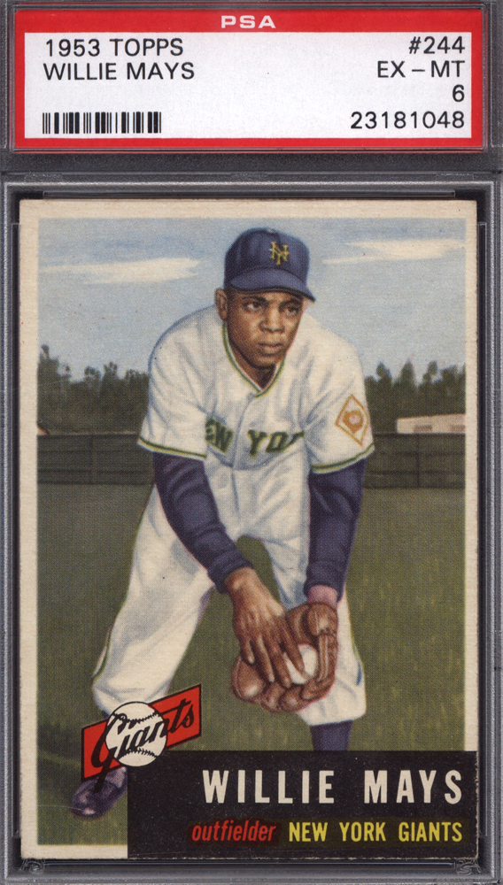 1953 Topps #244 Willie Mays PSA 6