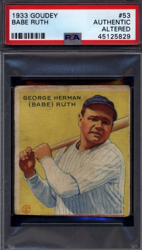 Don't Sell Your Cards Short - Trimmed 1933 Goudey Collection