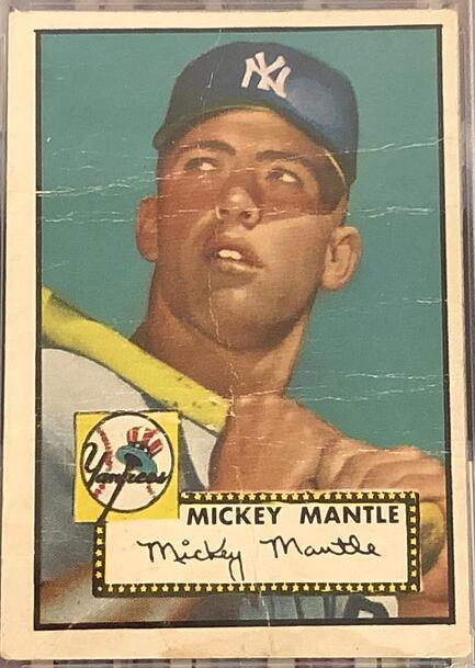 1952 Topps Mickey Mantle PSA 8 Rookie Card Sold for $2,029,500