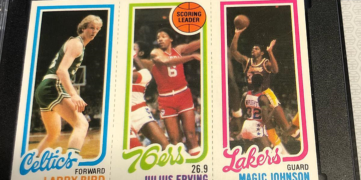 Larry Bird and Magic Johnson Rookie Card Sets Record Price