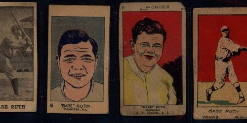 NJ Family Strip Card Collection with Babe Ruth, Ty Cobb and others