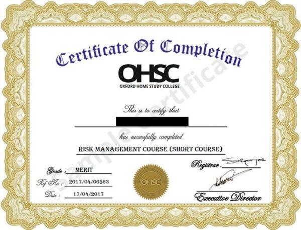 Oxford-Certificate