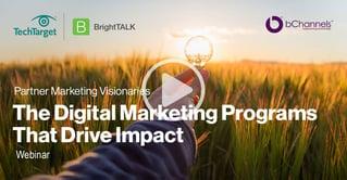 Webinar: Partner Marketing Visionaries: The Digital Marketing Programs That Drive Impact