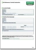 APS Allowance Transfer Declaration