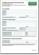 Additional Permitted Subscription (APS)