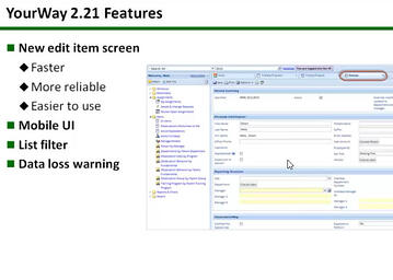 YourWay 2.21 Now in Production