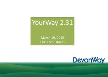 YourWay 2.31 Release Webinar