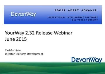 YourWay 2.32 Release Webinar