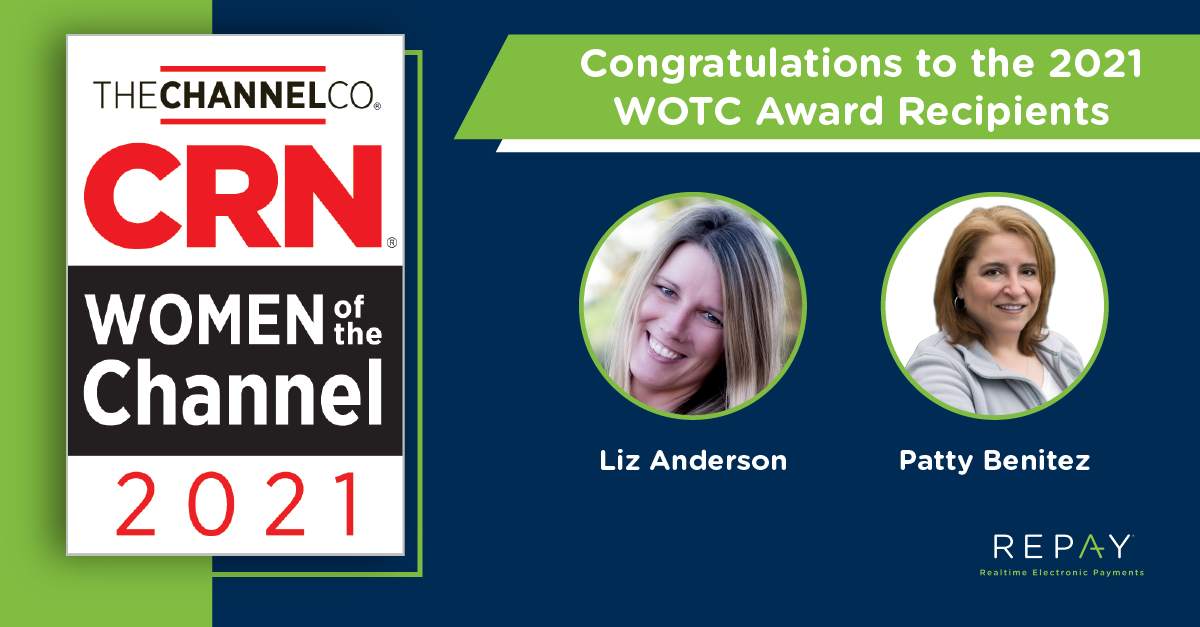 Two REPAY Channel Leaders Recognized on CRN's 2021 Women of the Channel List