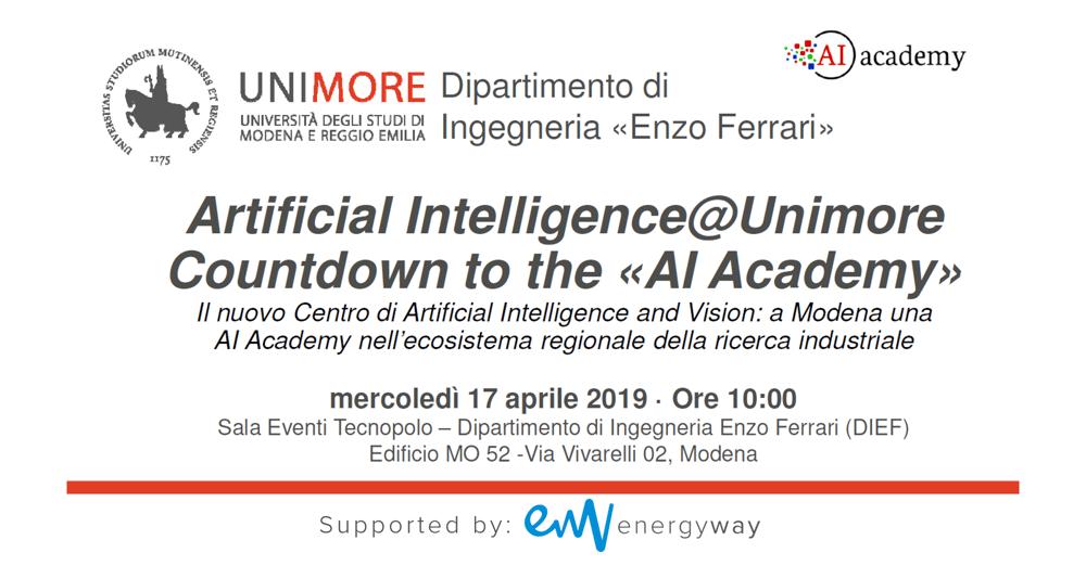 AI Academy @ Modena: 17 aprile 2019