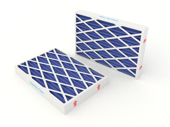 air conditioner filters with air flow arrows