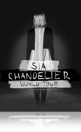 Music Poster Septembre 2021_Sia Chandelier