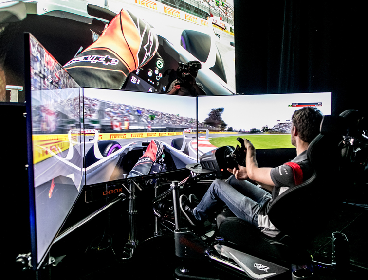 D-BOX Haptic System for Pro Sim Racers