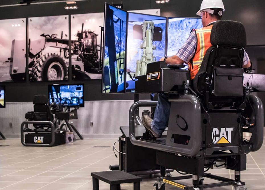 Man-training-on-professional-construction-simulator