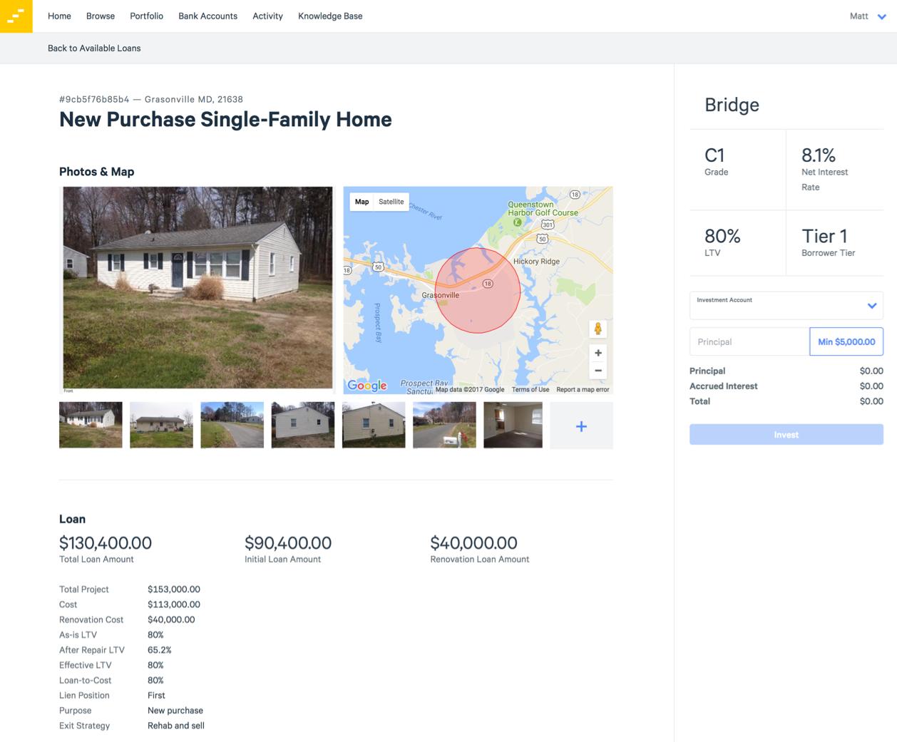 lendinghome loan details page