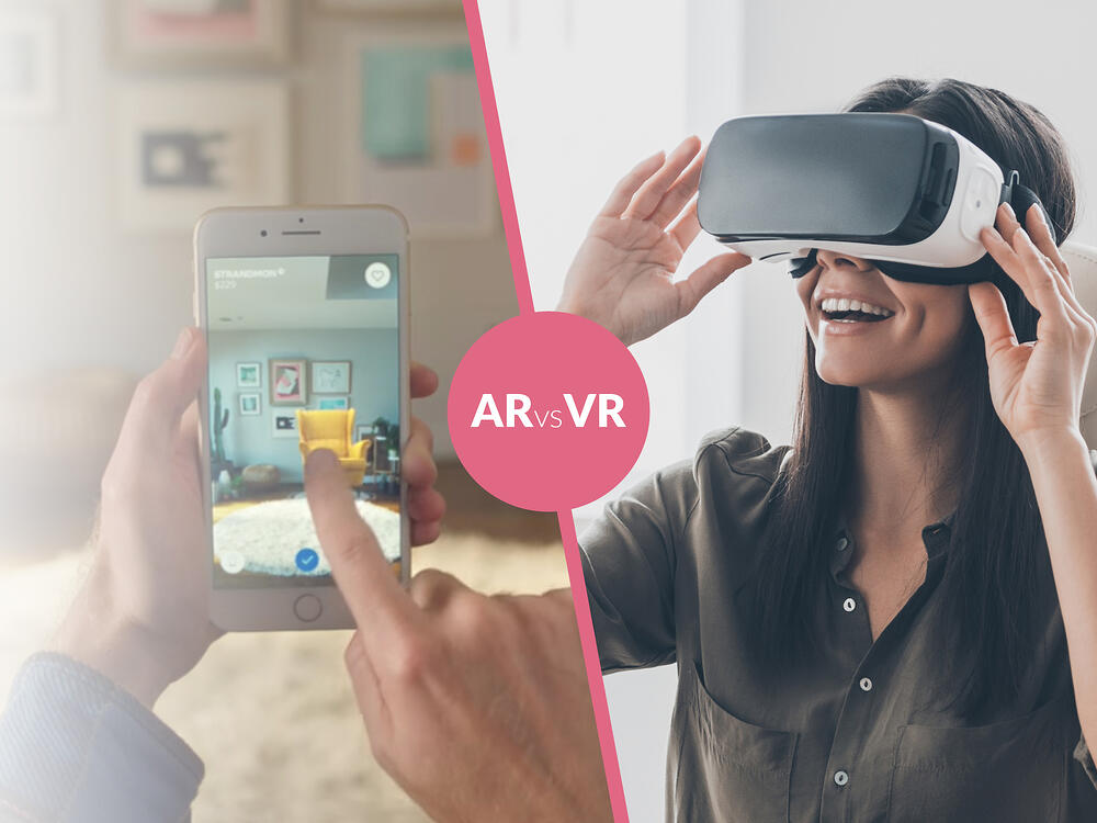 The difference between augmented reality (AR) and virtual reality (VR)